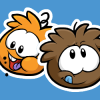 Thumbnail image for Brown and Orange Puffle Pins