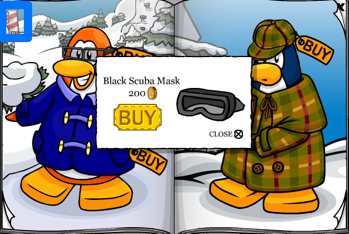 Club Penguin Black Scuba Mask