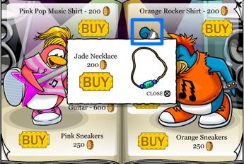 Club Penguin Jade Necklace