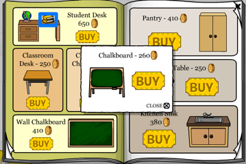 Club Penguin Student Desk