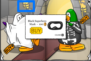 Club Penguin Black Superhero Mask