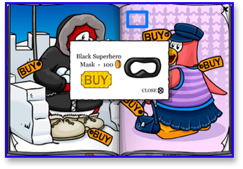 Club Penguin Superhero Mask