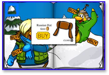 Russian Hat in Club Penguin
