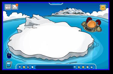 The iceberg in Club Penguin