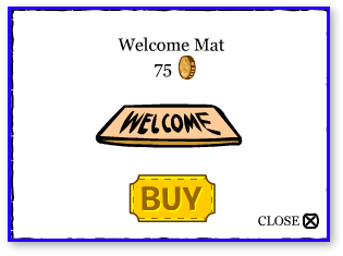 Club Penguin Welcome Mat