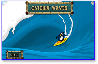 Club Penguin Catchin' Waves