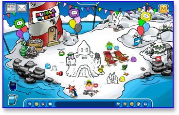 Club Penguin Puffle Party - Beach