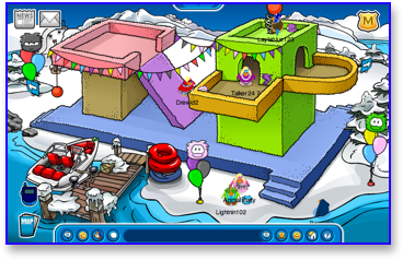 Club Penguin Puffle Party - Dock