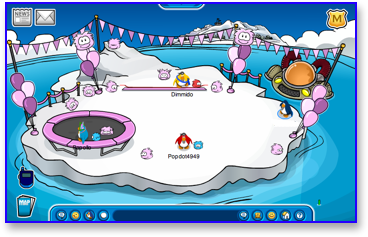 Club Penguin Puffle Party - Iceberg