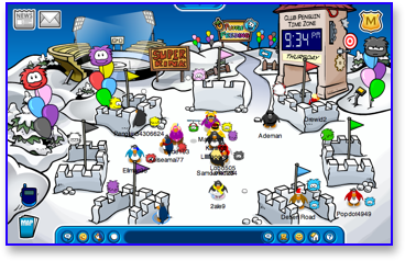 Club Penguin Puffle Party - Snow Forts