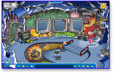 Club Penguin Puffle Party - Underground Pool