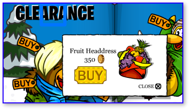 Club Penguin Fruit Headdress.