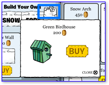 Club Penguin Green Birdhouse