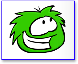 Green Puffle in Club Penguin