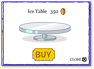 Club Penguin Ice Table