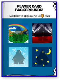 Club Penguin Player Card Backgrounds for March 2009