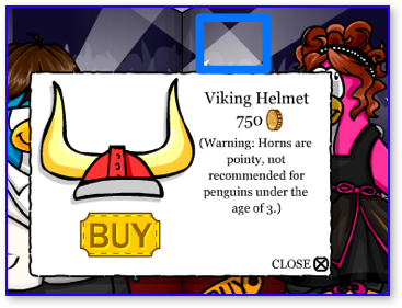 Club Penguin Red Viking Helmet
