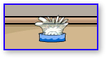 White Puffle Ice Bath