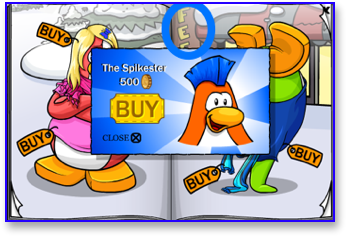 Club Penguin Spikester Wig