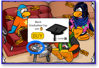 Club Penguin Graduation Cap