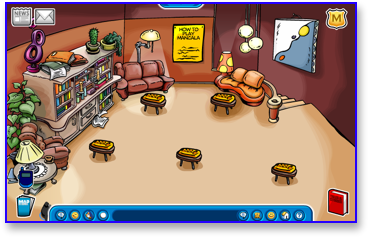 Club Penguin Book Room