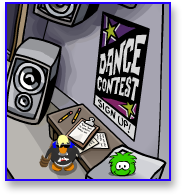 Dance Contest Game Signup in Club Penguin
