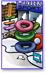 Club Penguin Bouncing Inner-tubes in Ski Village