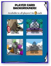 Club Penguin Medieval Card Backgrounds
