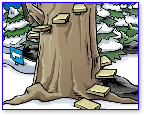 Club Penguin Medieval Party Treehouse