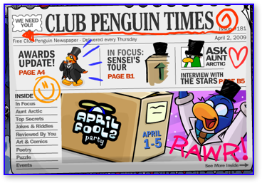 Club Penguin Newspaper Issue 181