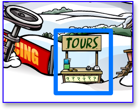 tour booth in Club Penguin