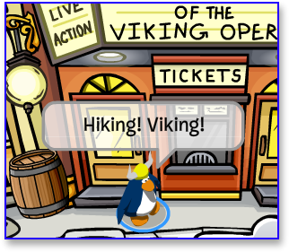 Hiking Viking in Club Penguin