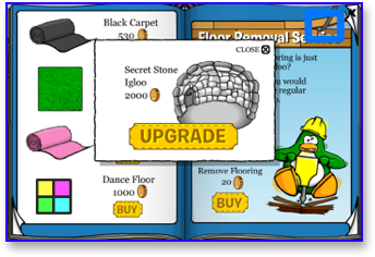 Club Penguin Igloo Upgrades Catalog Cheats for June 2009