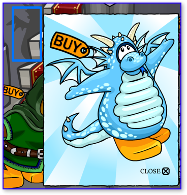 Club Penguin Blue Dragon Costume