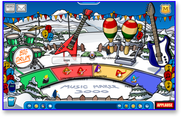 club-penguin-music-jam-2009-music-maker-3000
