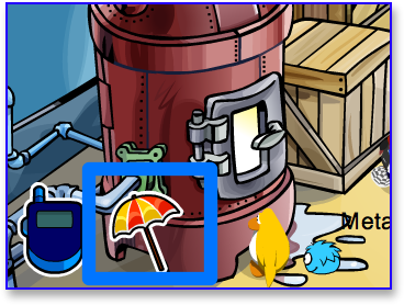 Post image for Club Penguin Beach Umbrella Pin