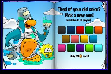 Club Penguin Aqua Color