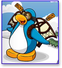 The Club Penguin Test Glider and Aviator Goggles