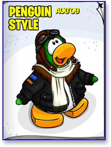 The Club Penguin August 2009 Clothing Catalog Cover