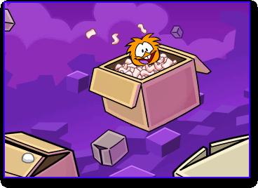 Orange Puffle sighted in Club Penguin