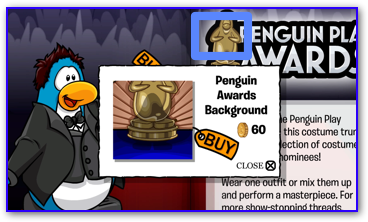 Club Penguin Awards Background
