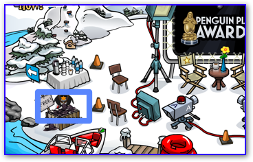 Free hat at the Dock in Club Penguin