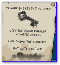 black puffle rescue note