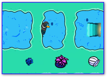 Entrance to secret level in puffle rescue