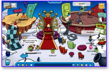 A Silly Place in Club Penguin