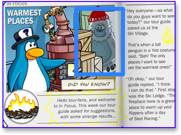 Herbert in a Yeti Costume on Club Penguin
