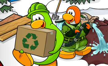 Club Penguin Earth Day Newspaper