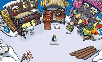 Club Penguin Medieval Construction in Town