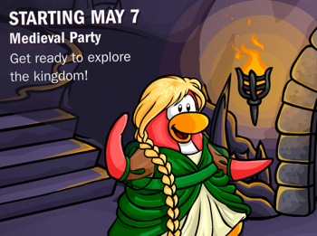 Club Penguin Medieval Party Promo