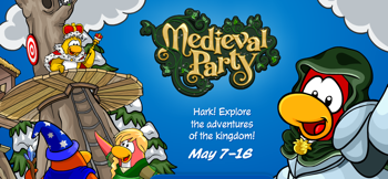 Club Penguin Medieval Party Construction